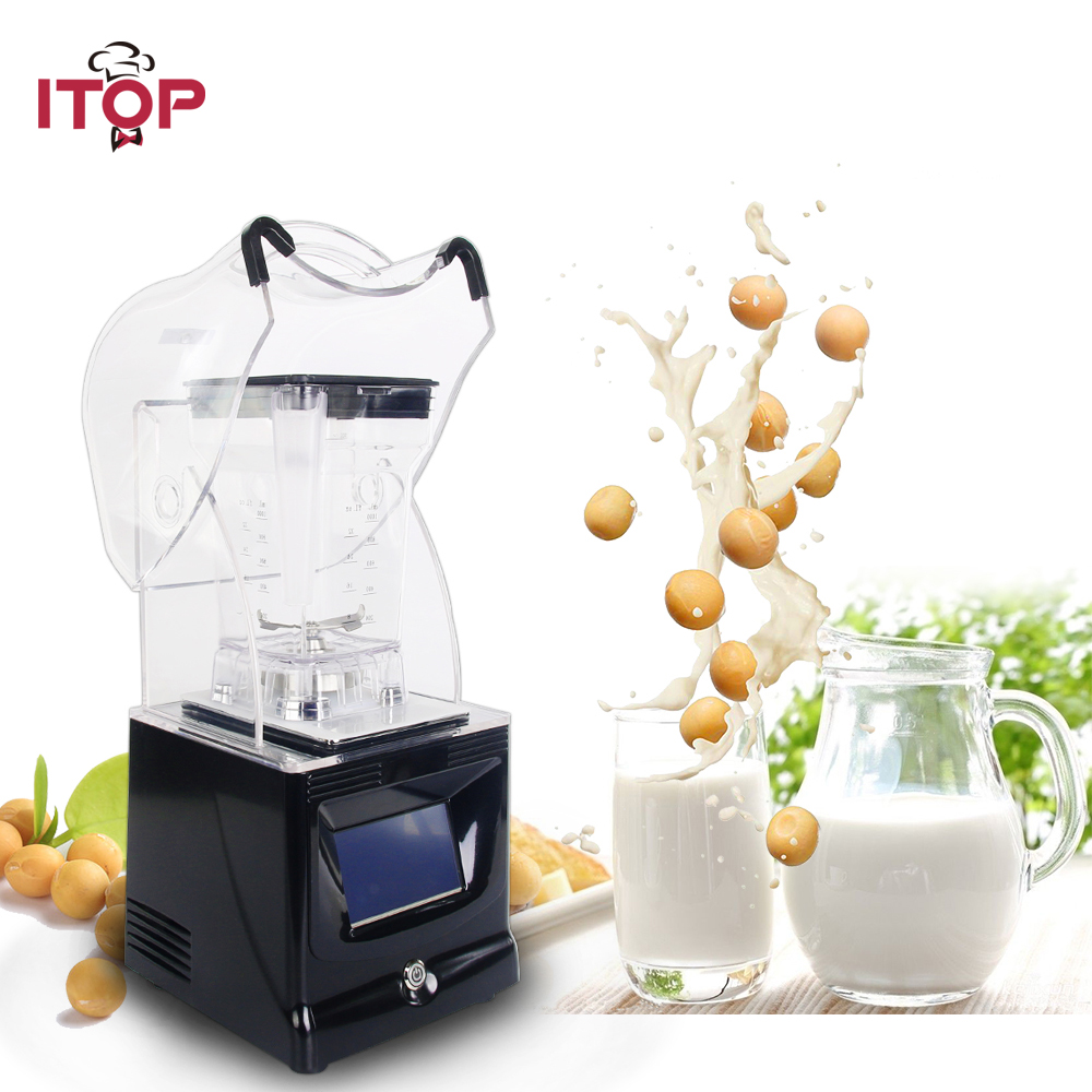 ITOP Commercial Touchpads Smoothies Blender 1.5L Vegetable Fruit Juicer Ice Cream Maker Ice Crushers Food Mixers White/Black цена и фото