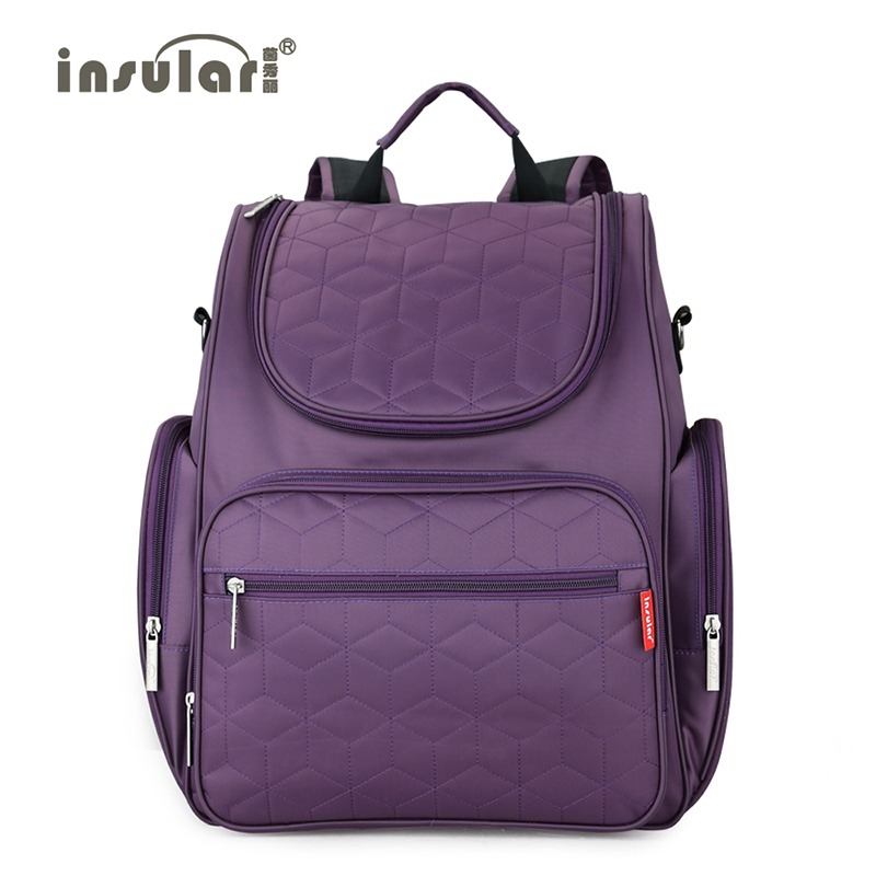 Insular 2018 New Arrival Ladies backpack Baby Diaper Backpack 210D Nylon heavy Duty Mommy Backpack Nappy Bag Changing Bag new arrival shipping free baby diaper bag waterproof 600d nylon mommy bag changing bag women tote bag
