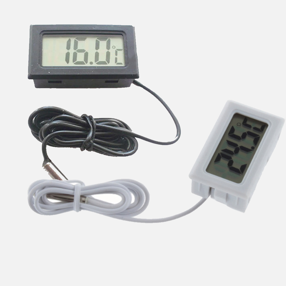 Mini 1M Probe Digital LCD Thermometer for Fridges Freezers <font><b>Coolers</b></font> Chillers Black High Quality image