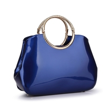 2016 Summer Fashion Female Patent Leather Handbag Tomen Tote Bags Party Luxury bag handbags candy color ladies hand bags