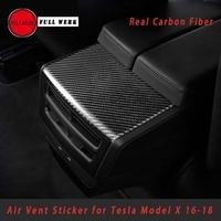 Настоящее углеродного волокна стайлинга автомобилей интерьера Молдинги украшения крышки отделкой Стикеры для Tesla модель S X 2016 2017 2018 аксесс