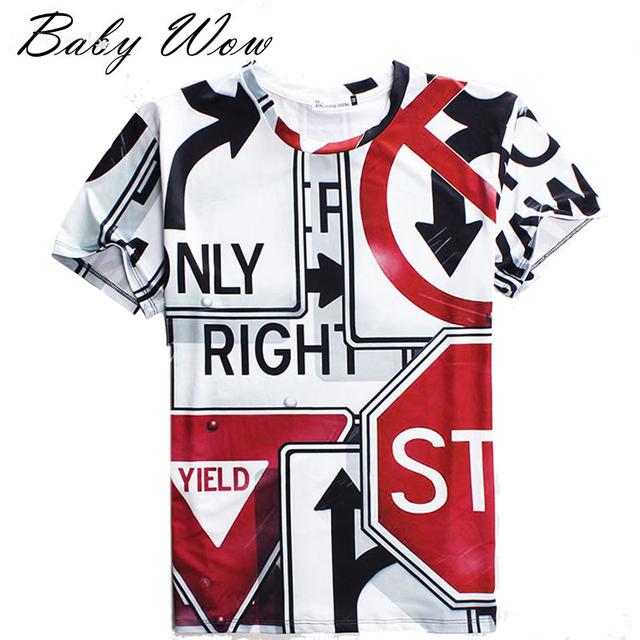 Moda ocidente estilo adolescente meninos roupas camisa personalidade 3D Digital impresso garotão T - camisas manga curta Tops tyh-20486