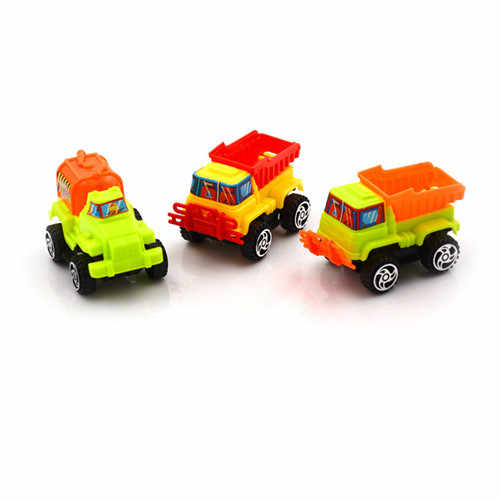 Plastik Mini Dump Truck Model Hadiah Mobil Mainan Rekayasa Konstruksi Klasik 6.5 cm * 4 cm 1 pcs