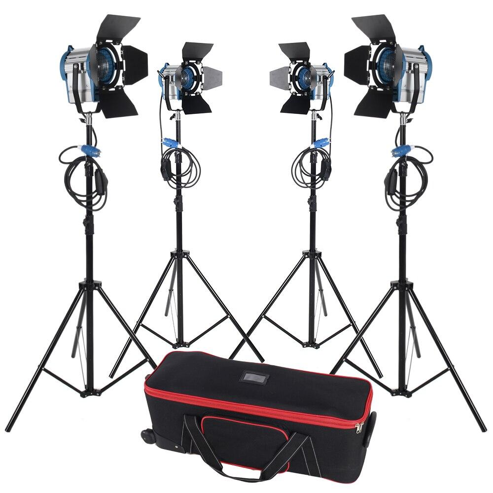 300w*2+650w*2 Tungsten Fresnel Light Spot Video Studio Light Continuous Light Camera for photographic цены онлайн