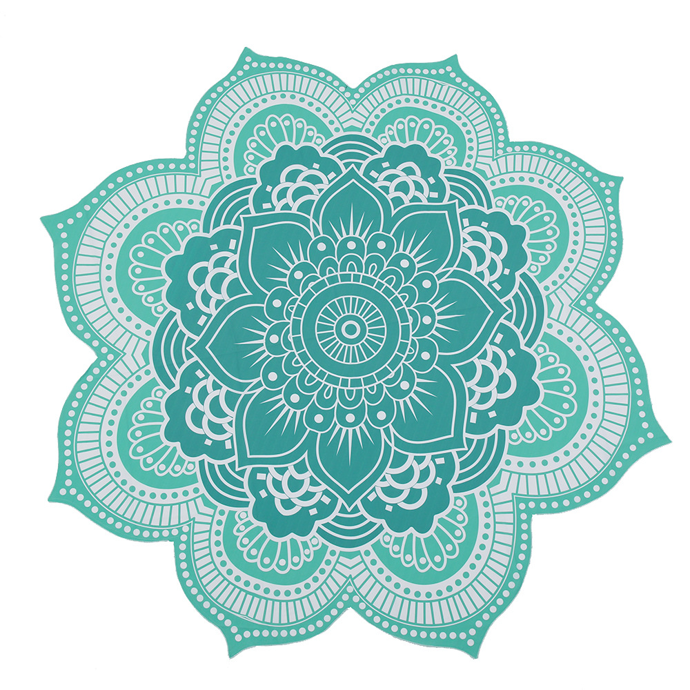 CAMMITEVER 4 Colors Lotus Bohemian Mandala Tapestry Sandy Beach Picnic Throw Rug Camping Tent Travel Sleep Pad Home Furnishing-in Tapestry from Home & Garden