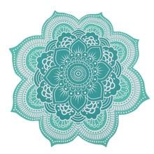 CAMMITEVER 4 Farben Lotus Böhmischen Mandala Tapisserie Sandy Strand Picknick Werfen Teppich Camping Zelt Reise Schlaf Pad Von Einrichtungs