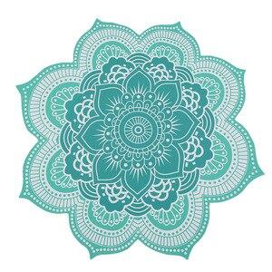Image 1 - CAMMITEVER 4 Farben Lotus Böhmischen Mandala Tapisserie Sandy Strand Picknick Werfen Teppich Camping Zelt Reise Schlaf Pad Von Einrichtungs