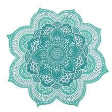 CAMMITEVER tapiz de Mandala bohemio de loto, Alfombra de 4 colores, para Picnic en la playa, tienda de campaña, viajes, muebles para el hogar