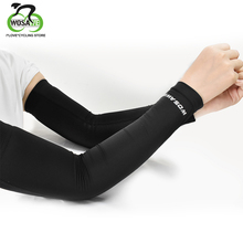 WOSAWE Ice Fabric Arm Sleeves Manguito Ciclismo Camping Cycling Bicycle Fitness Riding Sunscreen UV Protection Arm warmers