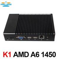 Мини ПК оконные рамы 10 Linux A6 1450 4 ядра GPU Radeon HD 8250 Smart Kit Карманный ПК HTPC HDMI VGA поддержка PXE загрузки/Wake on Lan