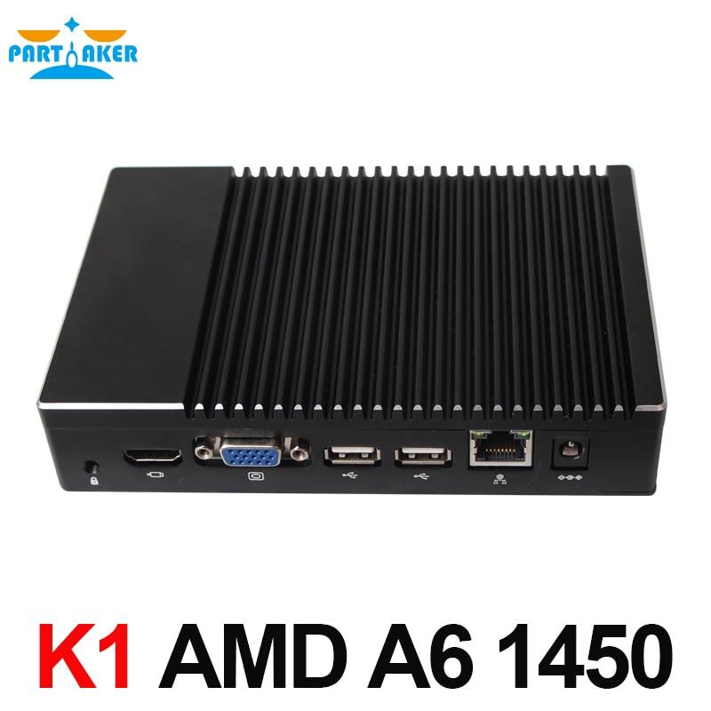 Mini PC Windows 10 Linux A6-1450 Quad Core GPU Radeon HD 8250 Smart Kit Pocket PC HTPC HDMI VGA Support PXE Boot/Wake-on Lan
