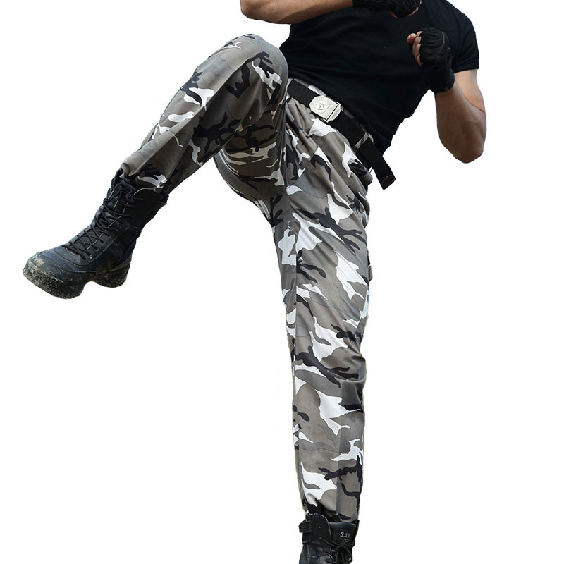 Mens Tactical Military Pants Army Camouflage Combat SWAT Long Trousers Homme Baggy Joggers Sportwear Cargo Pants