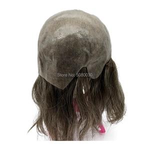 Image 3 - 女性の髪トッパーフルキャップかつら人格カスタマイズ皮膚ベース髪のかつらの男性
