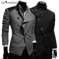 Homens Blazer 2017 Nova Chegada Estilo Britânico Paletó Blazers Casuais Jaquetas Vestido de Terno Masculino Livre Shipping13M0449