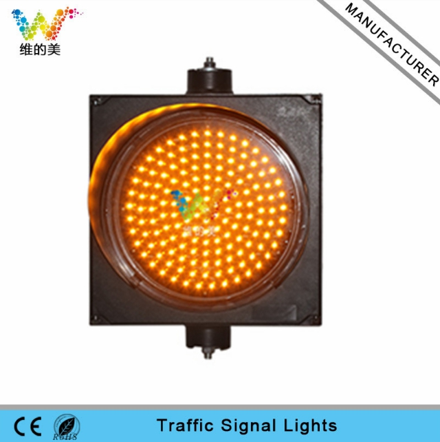 WDM 300mm Traffic Light One Aspect Yellow LED Flasher wdm 300mm traffic light one aspect red led flasher