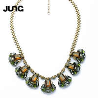 JUNG NEW Fashion Colorful Vintage Elegant Trendy 925 Sterling Silver Necklace Pendant Chain Collar Jewelry Free shipping XL17129