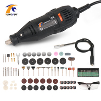 Power Tool 220V 110V with Dremel Accessories Dremel Tools Drill Accessories Electric Drill DIY Woodworking Rotary Tool Grinder