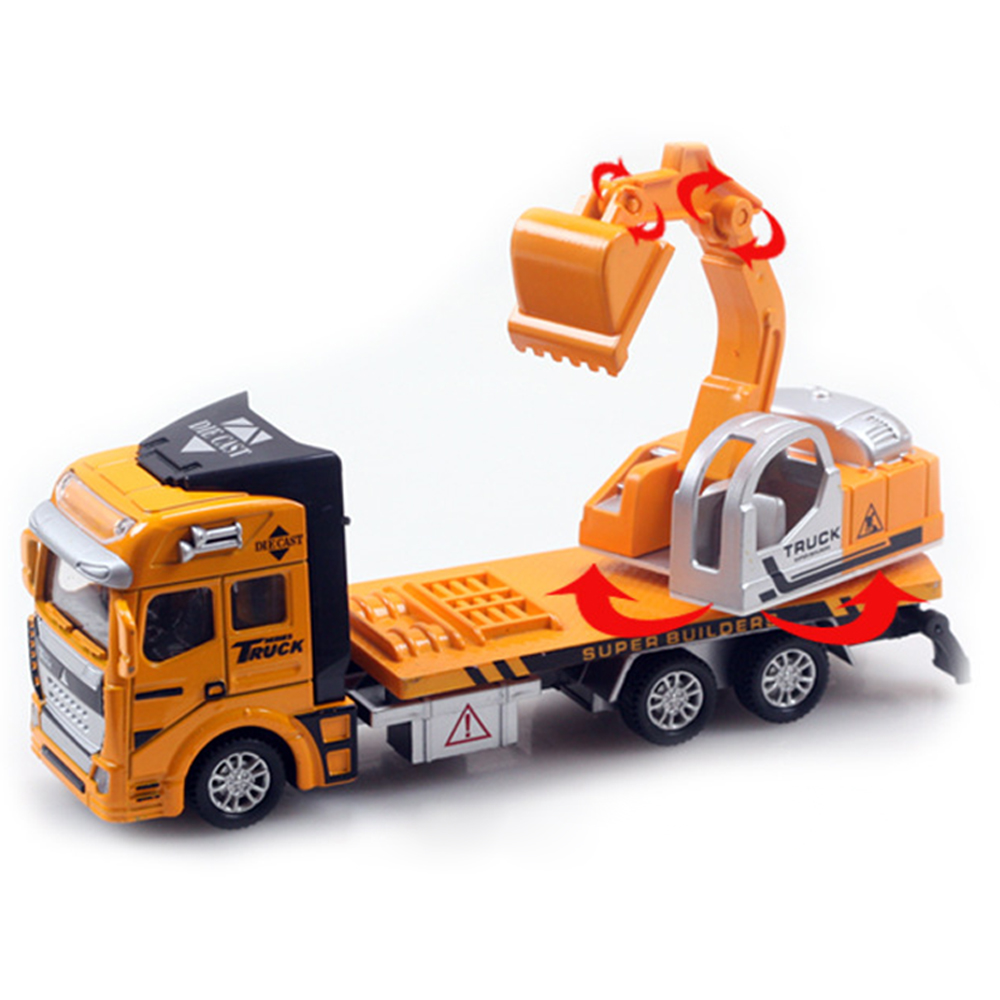 New Arrival Pull Back Truck Model Car Excavator Alloy Metal  # Modele Banc En Bois