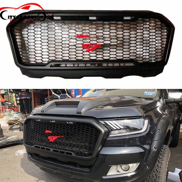 Top Quality Front Racing Modified Grille Grills Black Mask Bumper