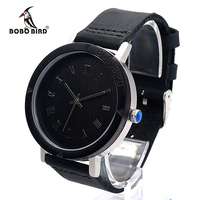 2017 BOBO BIRD Luxury Brand Watch For Men Real Leather Strap Wood Watches Fashion Quartz Wristwatches