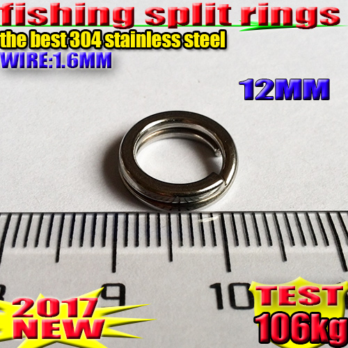Image 4 - 2019HOT fishing split rings 4.5MM  17.2MM fishing accessories quantity:100pcs/lot high quality304 stainless steel choose size!!!-in Fishing Lures from Sports & Entertainment