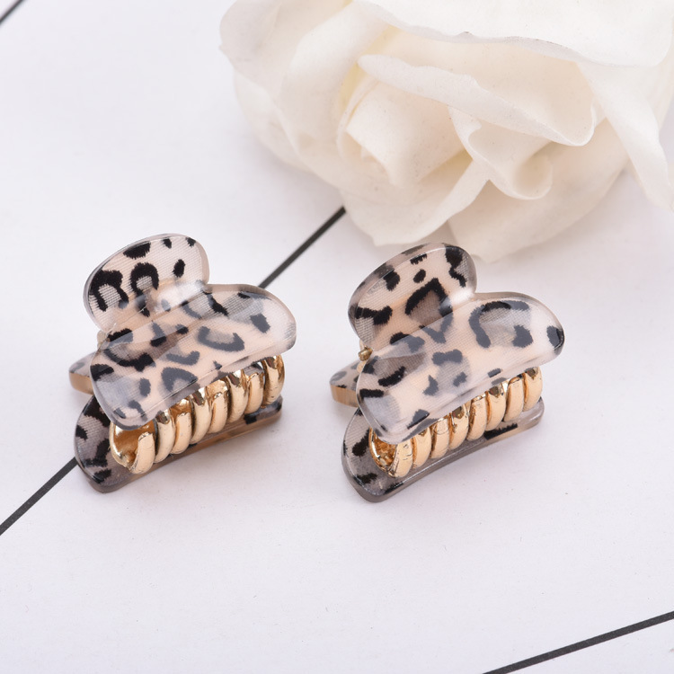 2019 Newest Brand Hair Clip Accessories Leopart Print Plastic Mini Hair Claw For Girls Fashion Gold Crab For Hair Tins Clamps in Women 39 s Hair Accessories from Apparel Accessories