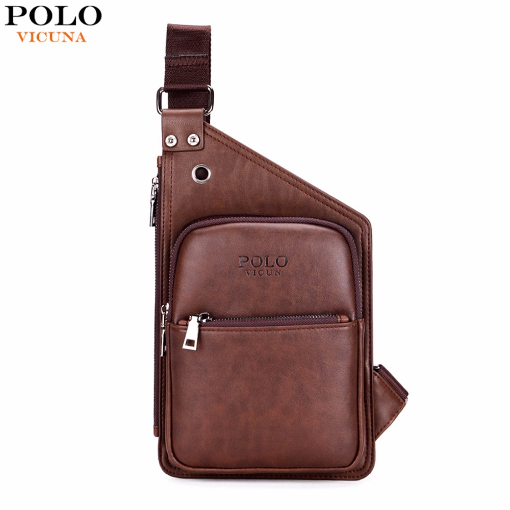 VICUNA POLO Famous Brand Casual Leather Men's Crossbody Bag Retro Antique Mens Leather Shoulder Bag Leisure Men Messenger Bags