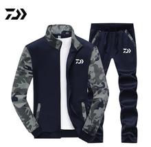Дайв Рыбалка одежда комплект Весна Осень Спорт на открытом воздухе Камуфляж Туризм Рыбалка рубашка и брюки для мужчин плюс размер одежда для рыбалки