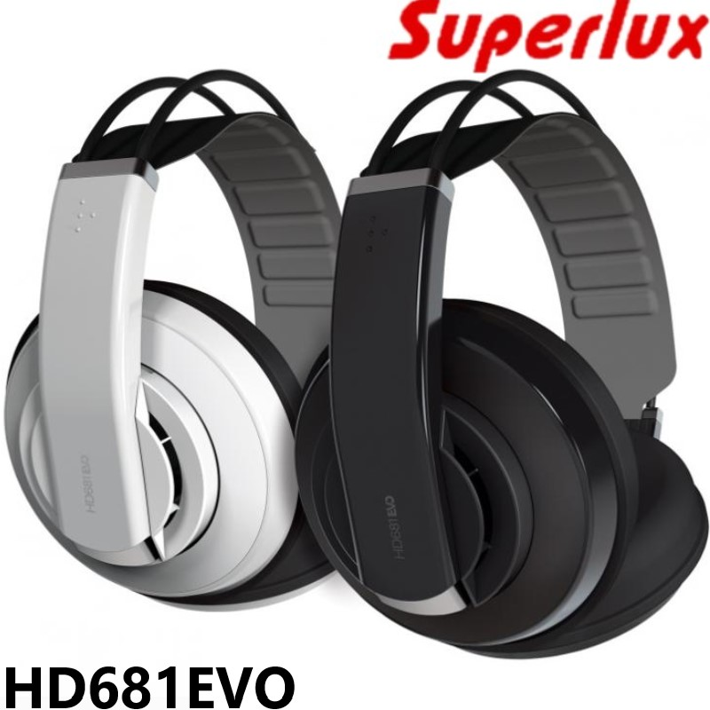 Hot selling Superlux HD681 EVO Dynamic Semi open Professional Audio Monitoring Headphones Detachable Audio Cable Headset