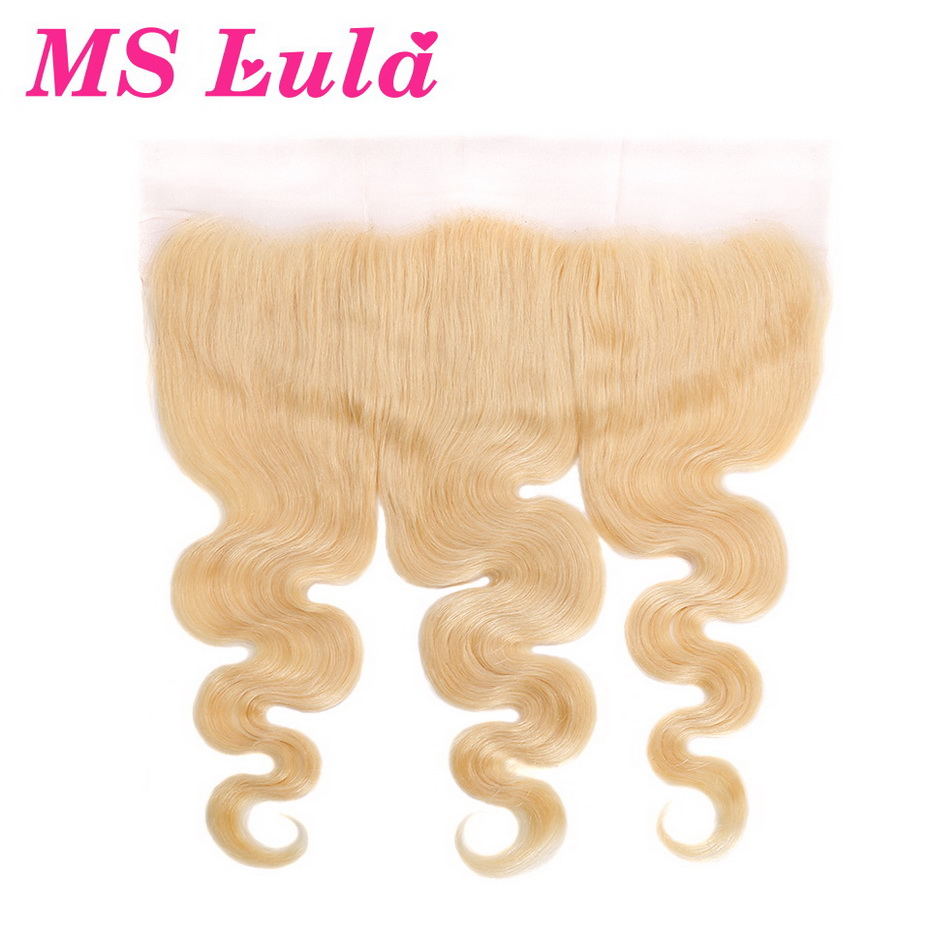 MS Lula Hair Blonde Pre Plucked 13x4 Lace Frontal 613 Brazilian Body Wave 100 Natural Human
