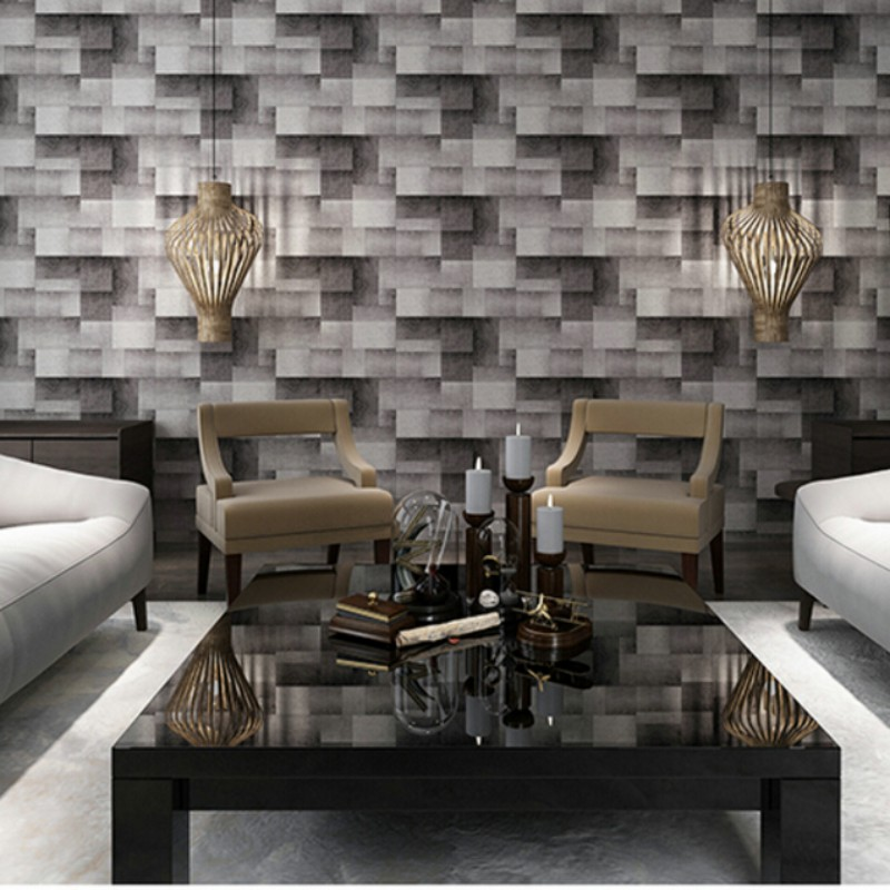 Beibehang 3d wallpaper Modern and simple brick pattern brick block TV bed sofa backdrop wallpaper for walls 3 d papel tapiz beibehang wallpaper simple and lovely