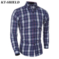 Hot! Fashion Plaid Men Shirts Casual Slim fit Long sleeve Chemise Homme Brand Dress Men Shirts Plus Size Camisa social Masculina