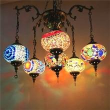 Asia sur-oriental Pavo luz colgante hecho a mano de Bohemia mosaico vidrieras Pasillo Escalera cafe restaurante lámpara colgante de luz