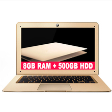 ZEUSLAP 8GB Ram 500gb HDD Intel Quad Core CPU Windows10 System 14inch 1920 1080P Full HD