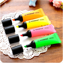 4 pcs/Lot STABILO neon highlighter Toothpaste marker pen fluorescent oblique boligrafos Stationery Office School supplies 6826