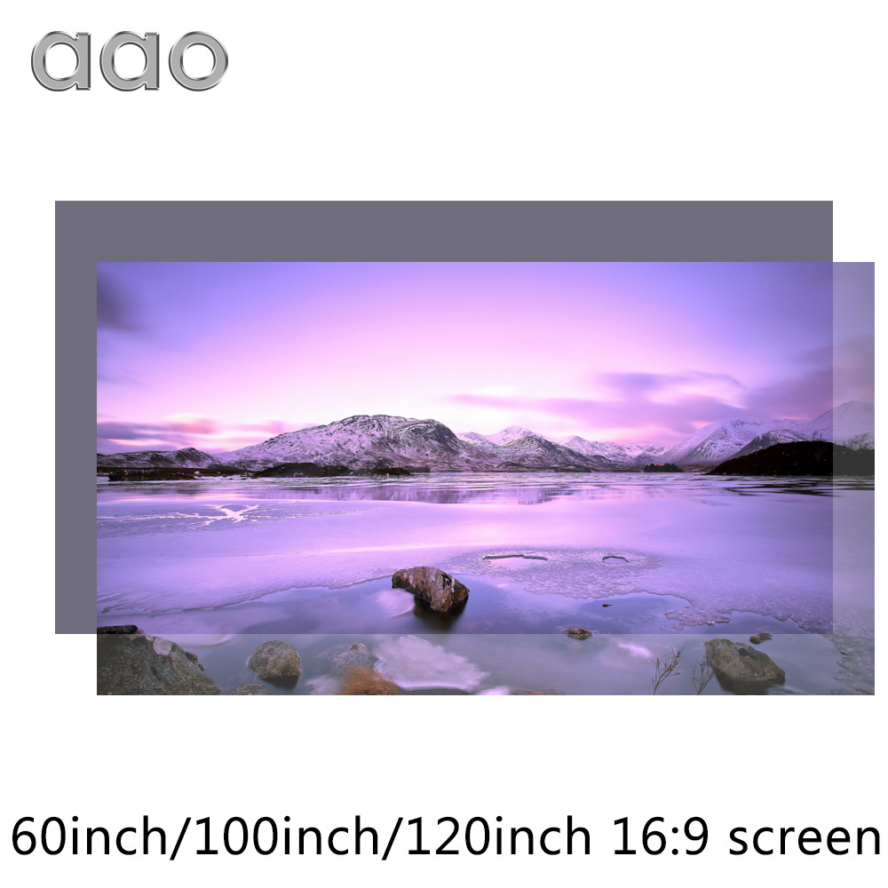 AAO 60 100 120 inch High Brightness Projector Screen Reflective Fabric Cloth Screen for Espon BenQ XGIMI Projector Home Theater 60 72 84 100 120 inch grey screen reflective fabric projection screen for xgimi h1 h2 h1s z6 z4 jmgo j6s projector beamer