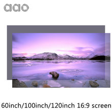 AAO 60 100 120 inch High Brightness Projector Screen Reflective Fabric Cloth Screen for Espon BenQ XGIMI Projector Home Theater(China)