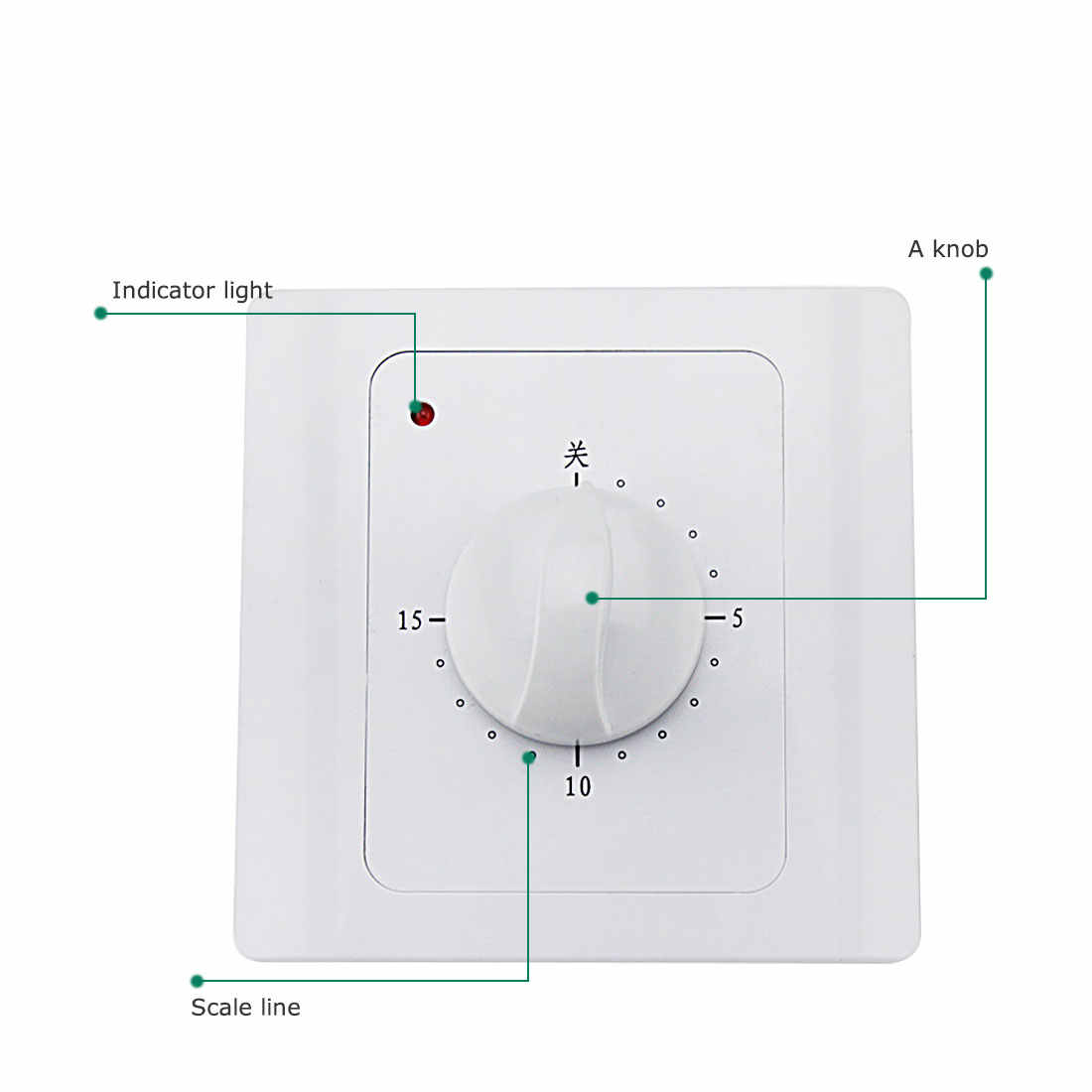 8287d5a91d Detail Feedback Questions about New AC 220V 10A 30Min Countdown Timer  Switch Electric Digital Time Plug Control Switch Timer Socket Knob Style  Switch ...