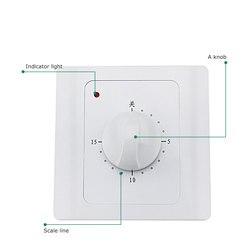 Nowy AC 220V 10A 30Min wyłącznik czasowy zegar odliczający elektryczny czas cyfrowy wtyczka sterowanie gniazdko z przełącznikiem i timerem pokrętło styl przełącznik mechaniczny