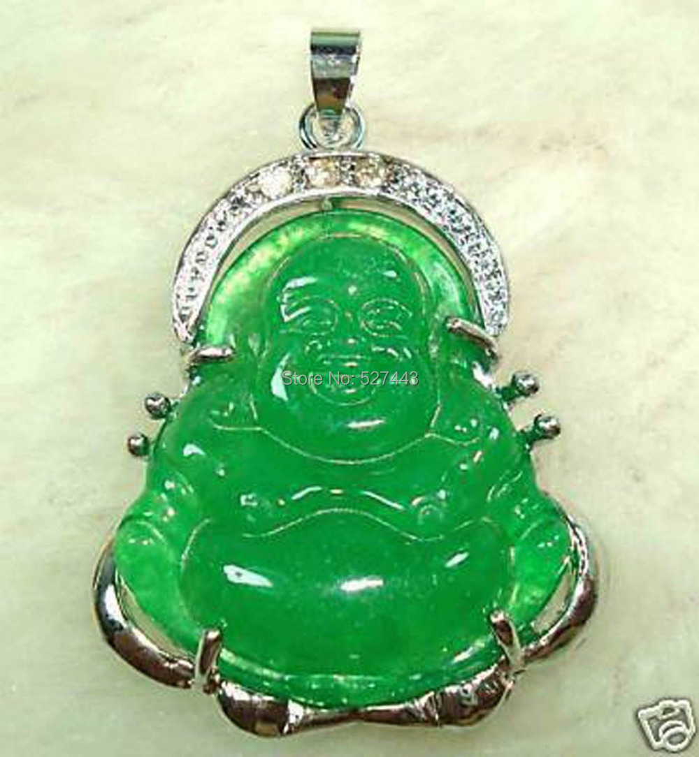 Wholesale Jade Jewelry Wholesalelan021 >chinese Green Stone Buddha Pendant