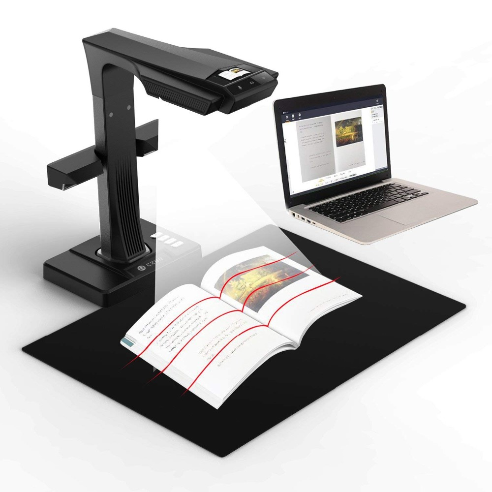 ET16+ 16MP Smart Book Document Scanner with Innovative Side Light 187 Languages OCR Conclude Hand Foot Pedal for Mac and WindowsET16+ 16MP Smart Book Document Scanner with Innovative Side Light 187 Languages OCR Conclude Hand Foot Pedal for Mac and Windows