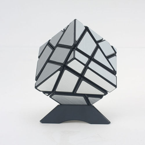 Ghost 3x3x3 Magic Cube Mirror Surface Skew Twist Speed Puzzle Cubo Magico Children Learning Educational Toy Fancy Toys SilverGhost 3x3x3 Magic Cube Mirror Surface Skew Twist Speed Puzzle Cubo Magico Children Learning Educational Toy Fancy Toys Silver