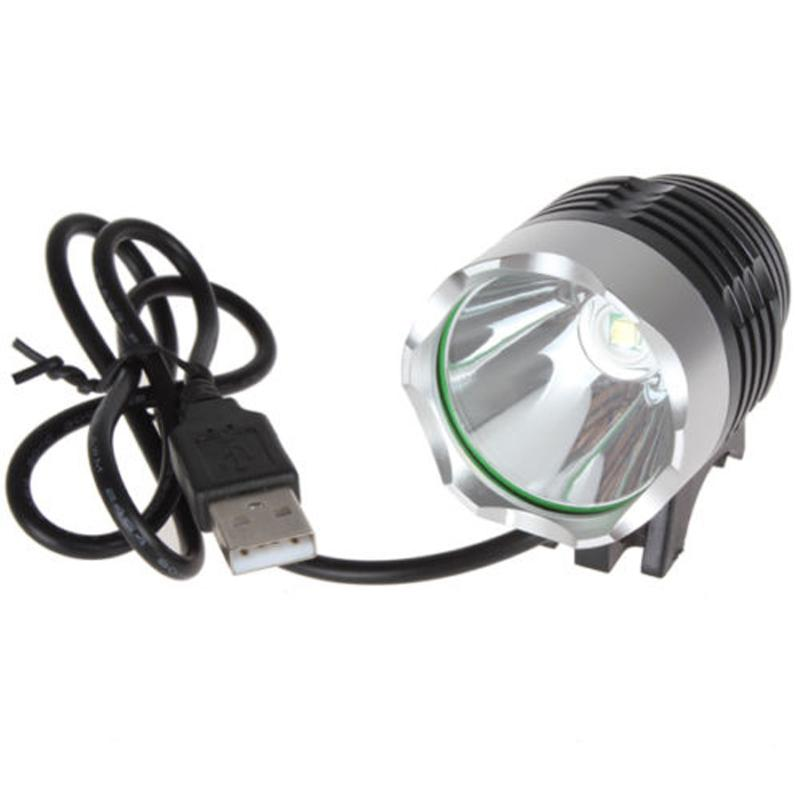 1Pcs Bike Light 1200Lm Lumens 3 Modes LED High Quality Bicycle Light Headlamp With USB B ...
