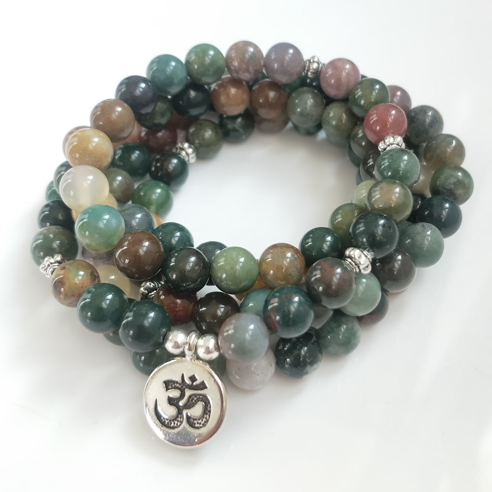 Indian Bloodstone Mala 2