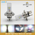 2016 New H4 Led Hi/Lo Beam Car Light Source 20W 1200LM 6000K Motorcycle Headlight Bulbs Moped Scooter Motobike Headlamp
