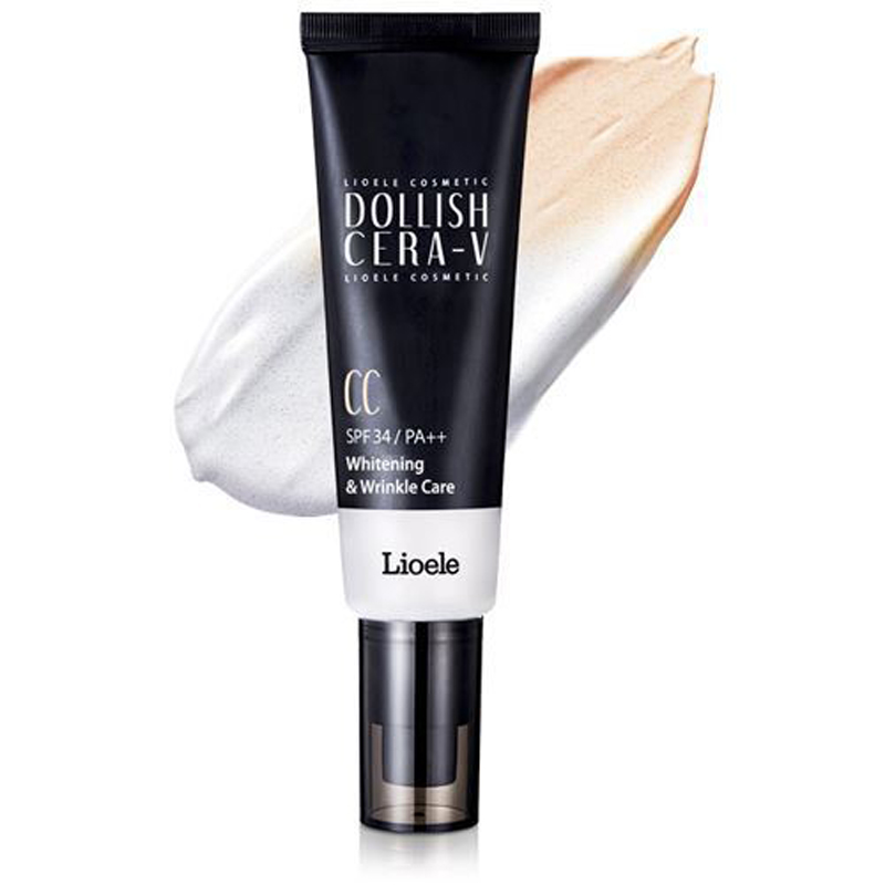 LIOELE Dollish Cera-V CC Cream 50ml BB Cream Concealer Moisturizing Foundation Makeup Bare Whitening Face Beauty Korea Cosmetic lioele les lioele 4 5ml