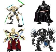 DECOOL Star Wars Блоки 1 шт. Дарт Вейдер Генерал Гривус Фон Туманность StarWars Цифры Игрушки Совместим с Лепин Звездные войны