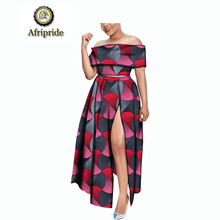 2019 africa new style for woman AFRIPRIDE ankara print private custom pure cotton suits women dashiki bazin riche  S1826013