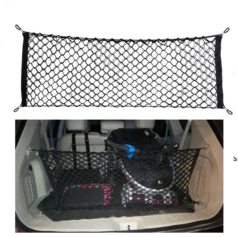 Élastique En Nylon De Voiture boot chaîne sac Tronc De Stockage Organisateur Bagages auto de stockage Net Mesh pour SUV/RV Hayon 35x90 cm-50x115 cm