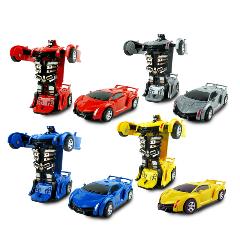 Transform Mini Car Toy Deformable Car Toys for Children Kids Toy Inertial Vehicle Sports Car Racing Car Engineering Car N6604